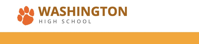 Washington High School banner