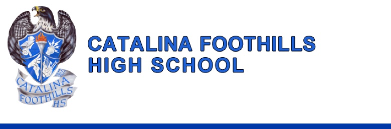 Catalina Foothills High School banner
