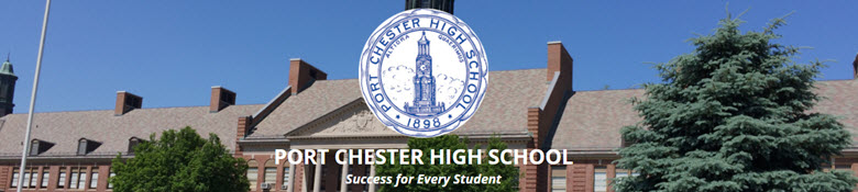 Port Chester High School banner