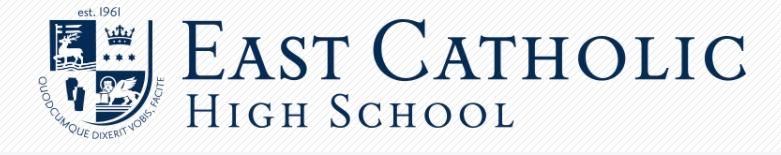 East Catholic High School banner