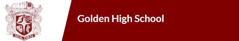 Golden Senior High School banner