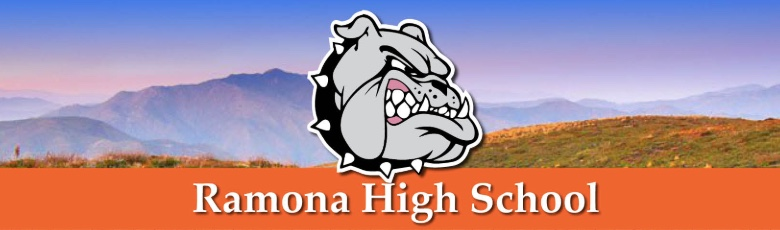 Ramona High School banner