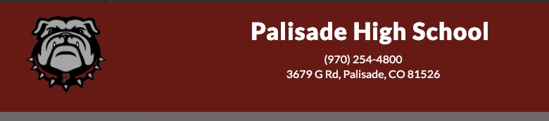 Palisade High School banner