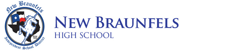 New Braunfels High School banner