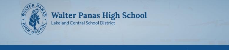 Walter Panas High School banner