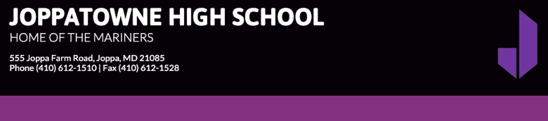 Joppatowne Senior High School banner