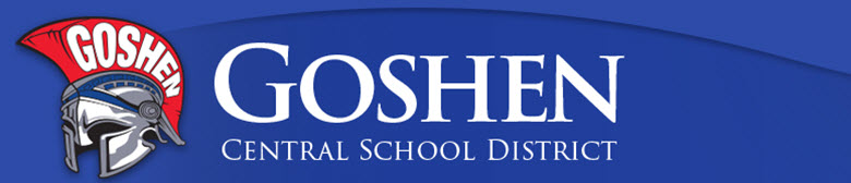 Goshen Central High School banner