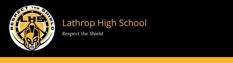 Lathrop High School banner