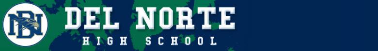 Del Norte High School banner