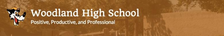 Woodland High School banner