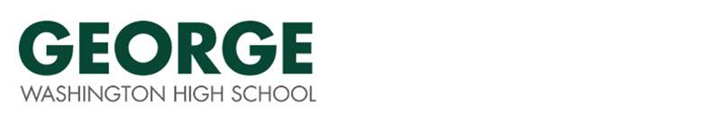 George Washington High School banner