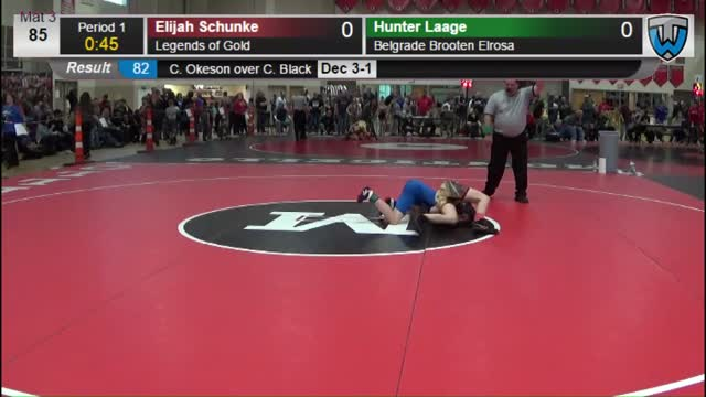Elijah Schunke (Legends of Gold) vs Hunter Laage (Belgrade Brooten ...