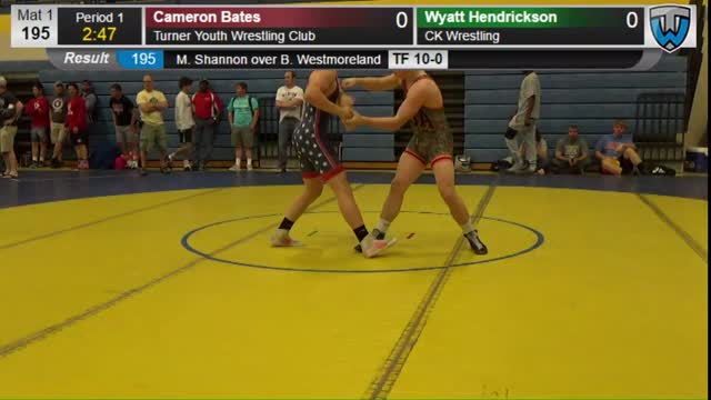 Cameron Bates (Turner Youth Wrestling Club) vs Wyatt