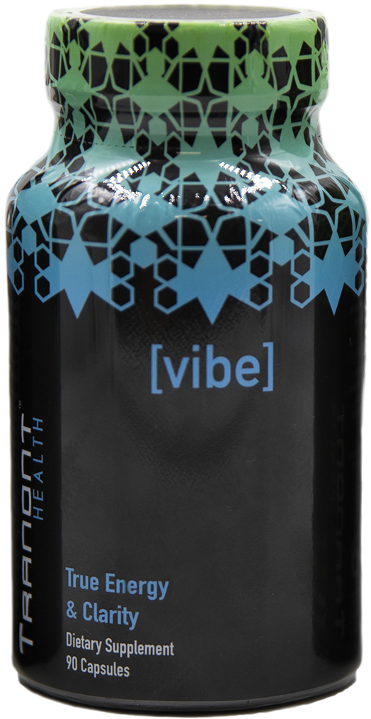 Image of VIBE from Tranont Health. VIBE natural energy supplement is a stimulant-free alternative for an active lifestyle.