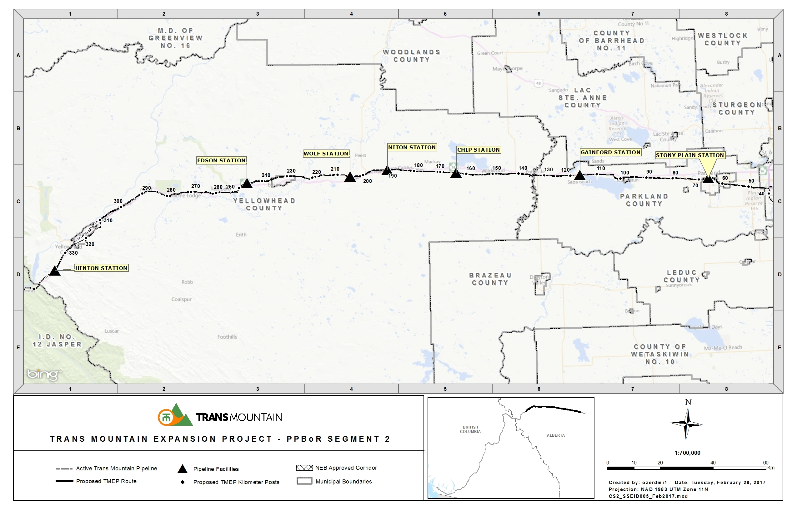 Detailed Route Trans Mountain Western Saddle Diagram Ppbor Spread 2mtime20170627042932asset953