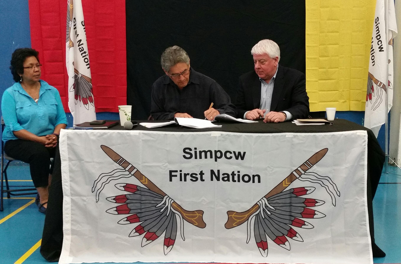 Simpcw MBA signing 05/11/16 - Indigenous, benefits