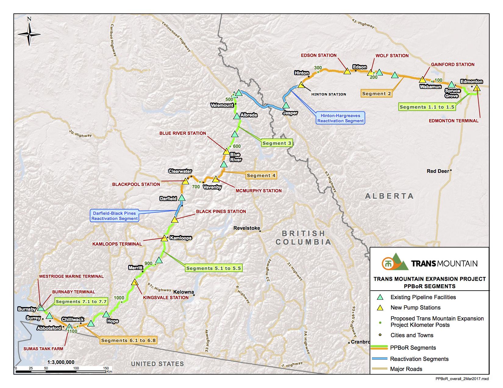 Detailed Route Trans Mountain
