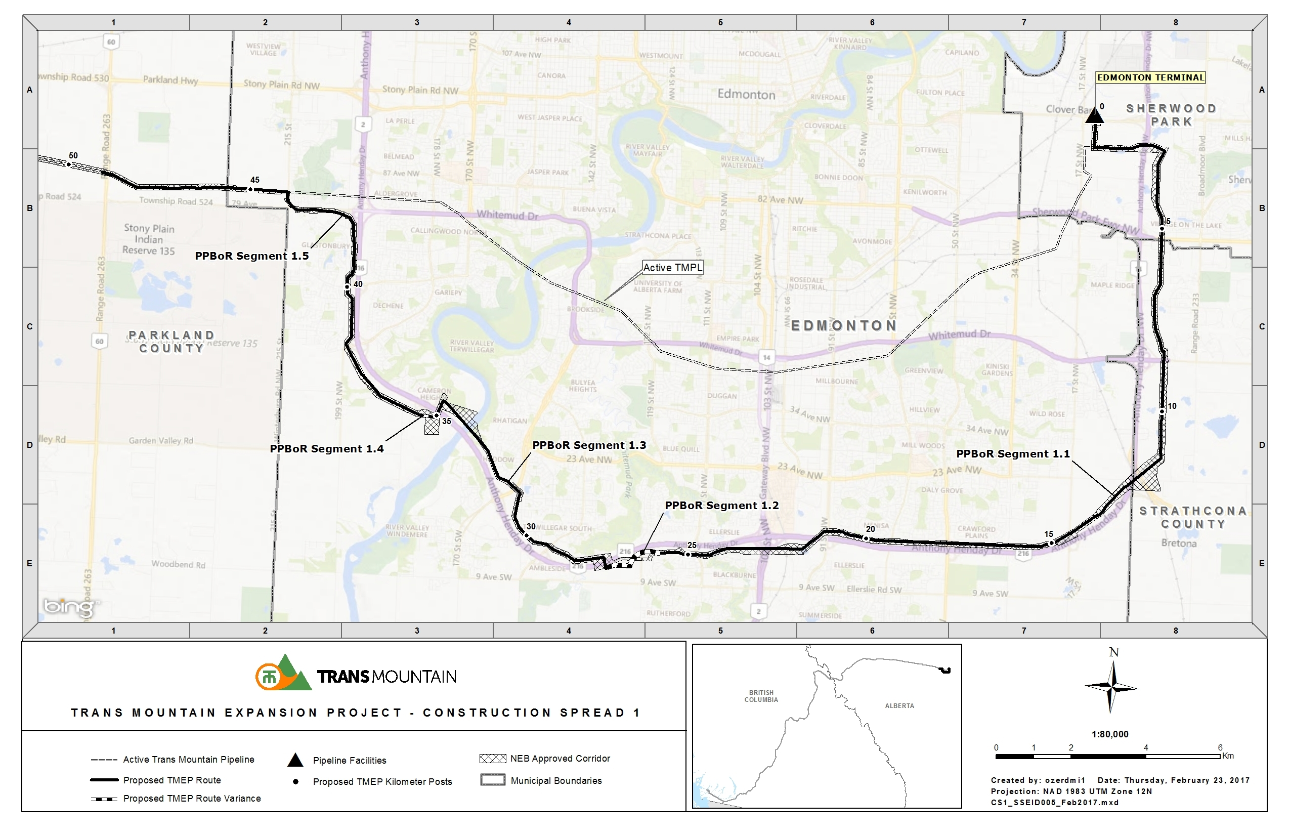 Detailed Route Trans Mountain Western Saddle Diagram View The Full Ppbor Segment Map Here