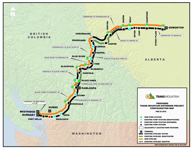 Planning The Route Trans Mountain - Map of us pipeline system