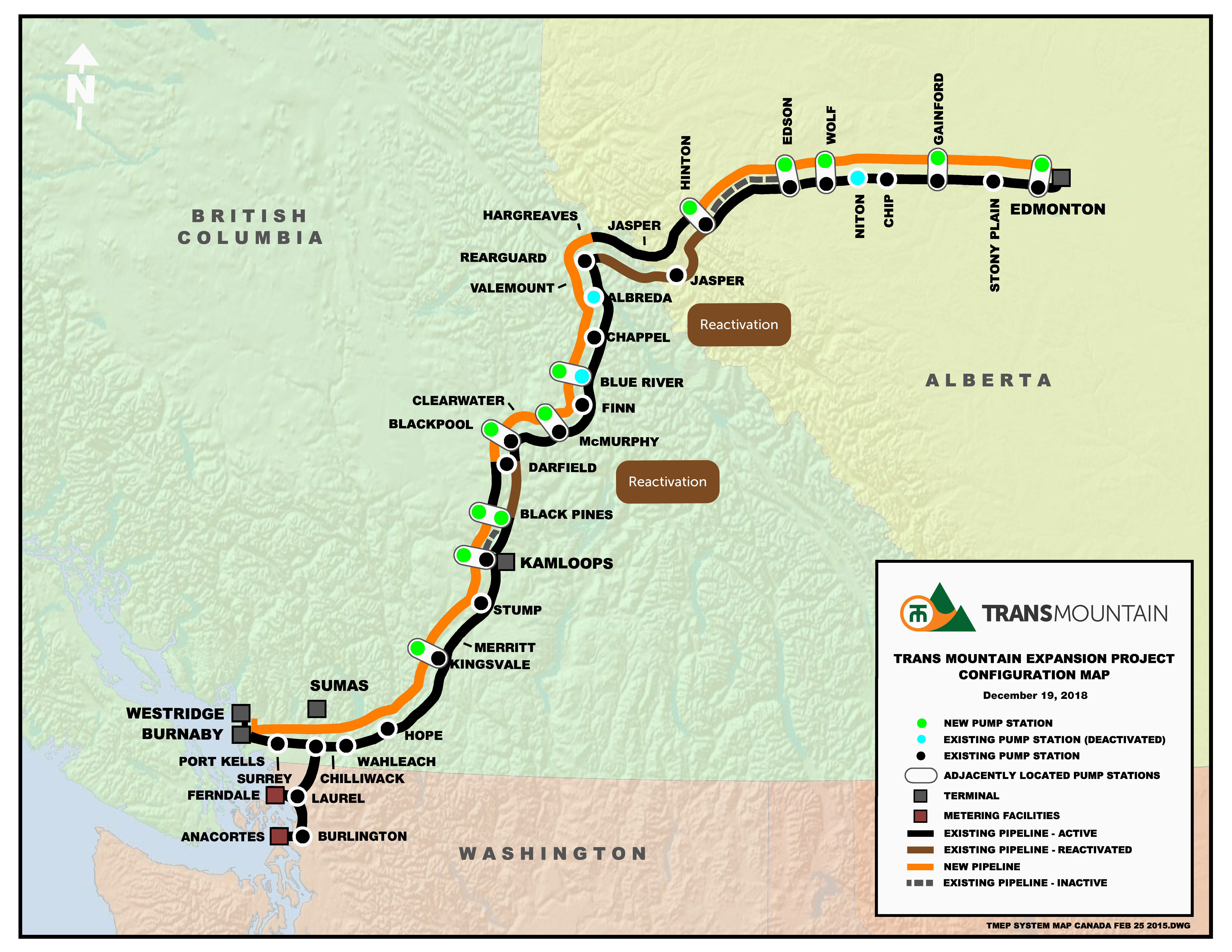 Planning the Route - Trans Mountain