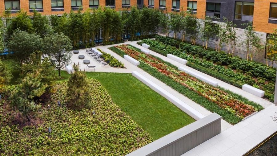 Gotham west courtyard