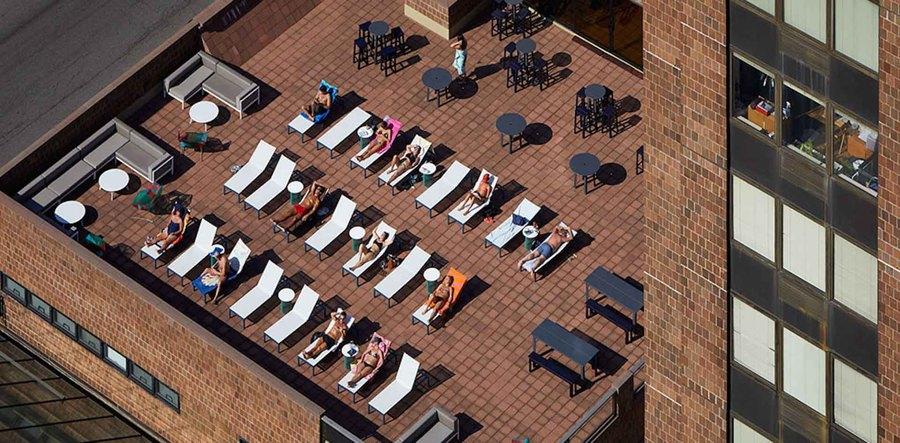 Waterside plaza terrace
