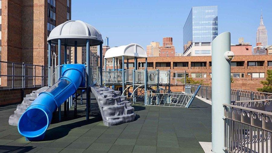 Waterside plaza childrens playground