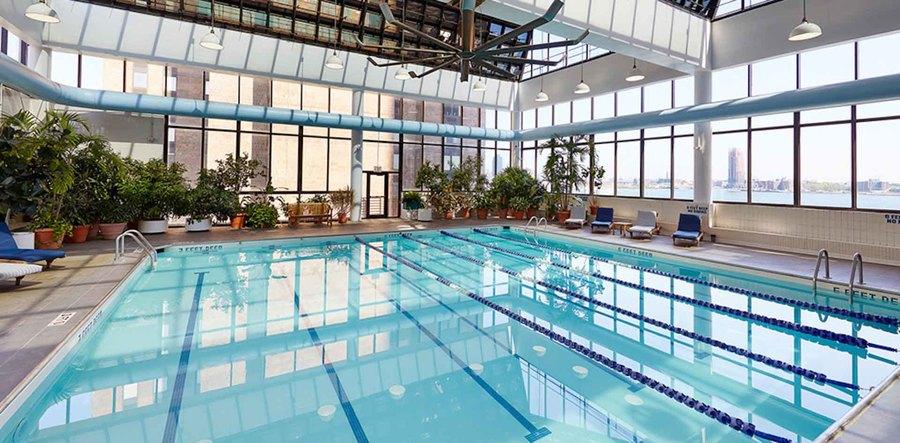 Waterside plaza pool