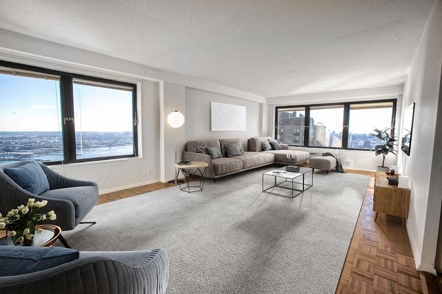 Waterside plaza living room1