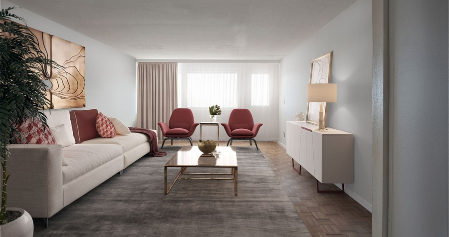 Waterside plaza living room4