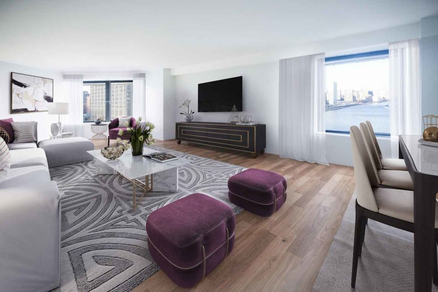 Waterside plaza living room5
