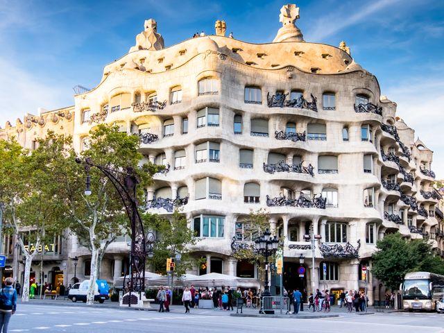 Casa Mila by Antoni Gaudi
