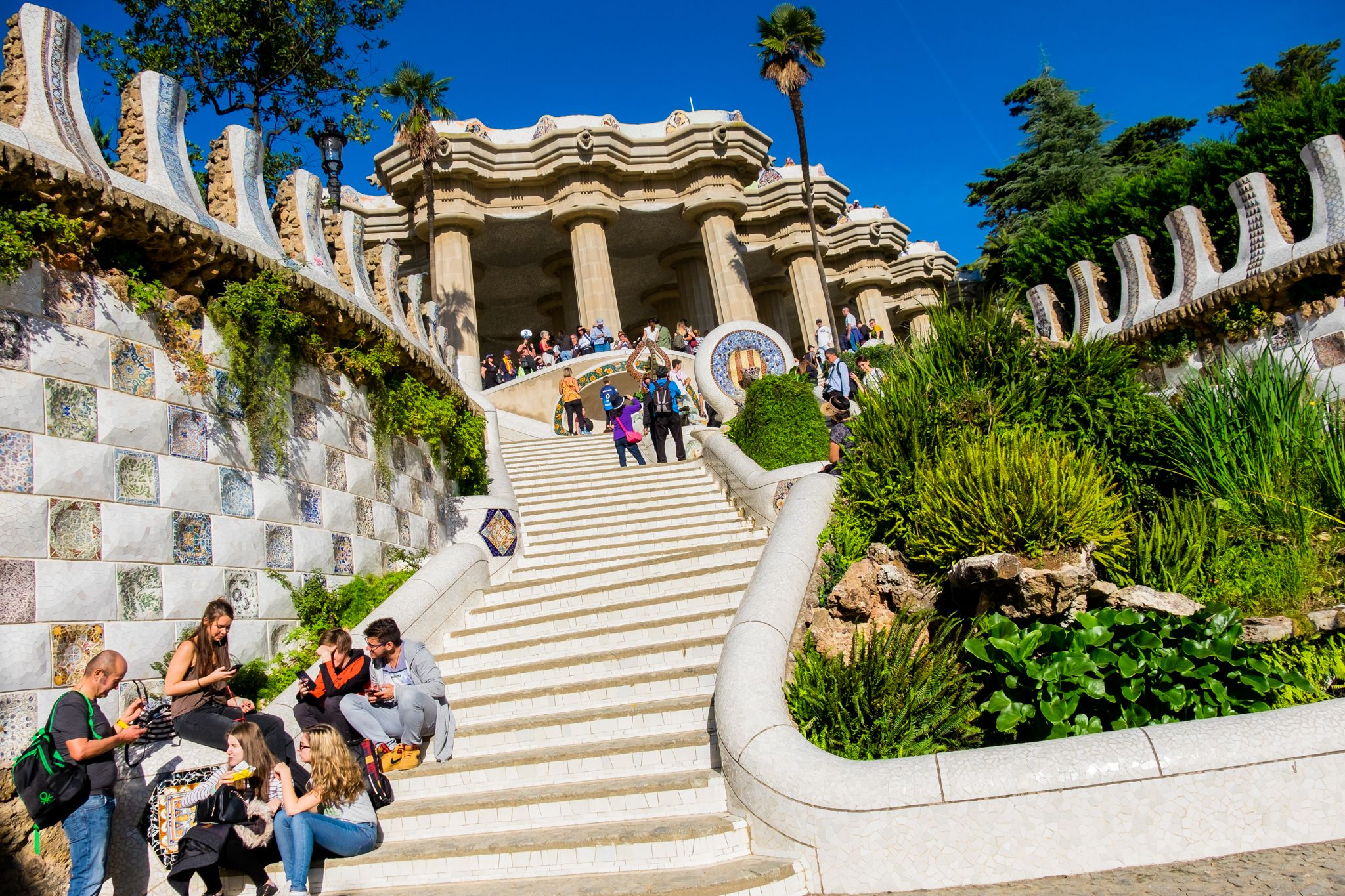 staircases of Parc Guell