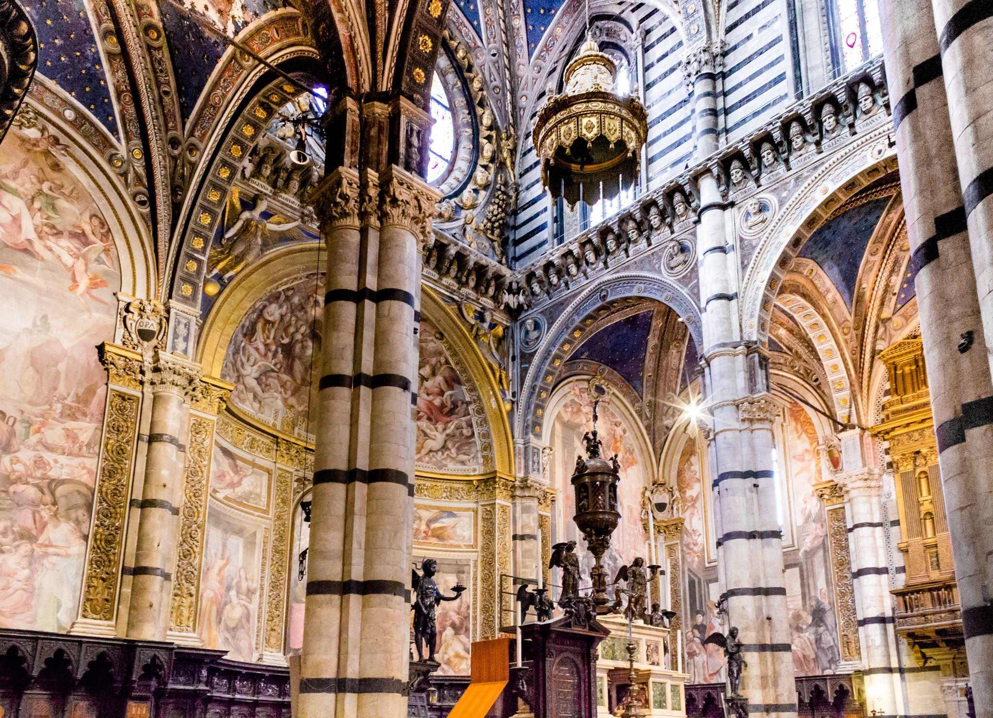 another view inside the Siena Cathedral