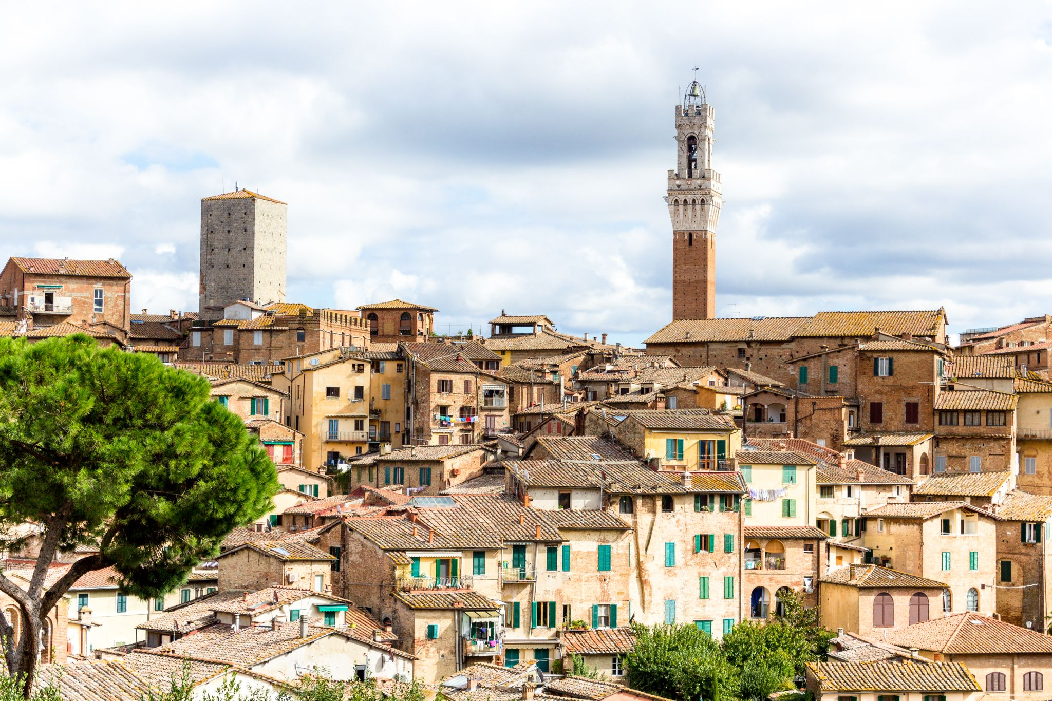 Torre del Mangia, a tower in Siena, Italy