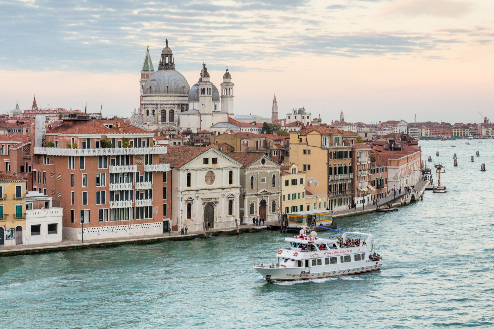 view of Venice from the Giudecca Canal
