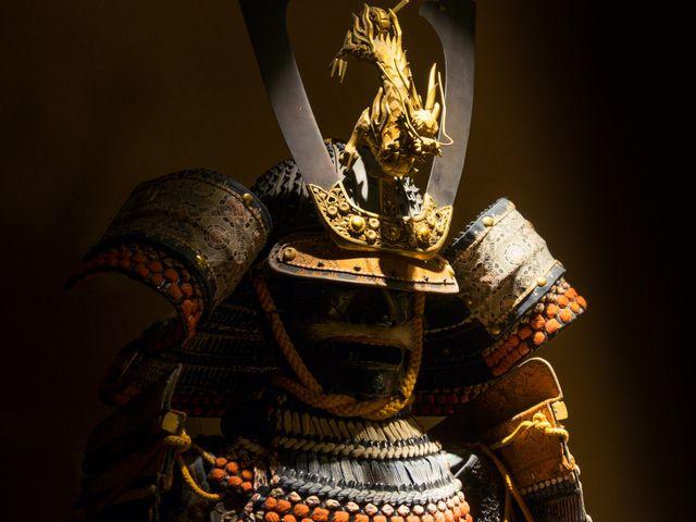 ancient helmet at Samurai Museum, Shinjuku, Tokyo