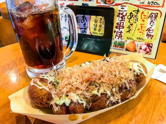 takoyaki balls with octopus inside