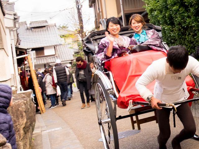 rickshaw ride in Arashiyama