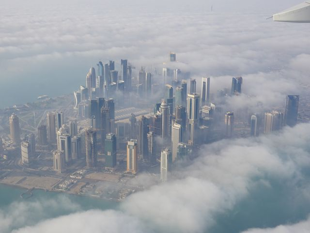 Doha from the air
