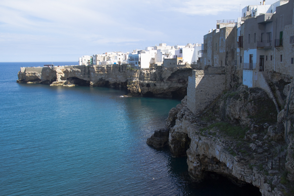 The old town of Polignano a Mare Puglia, Italy