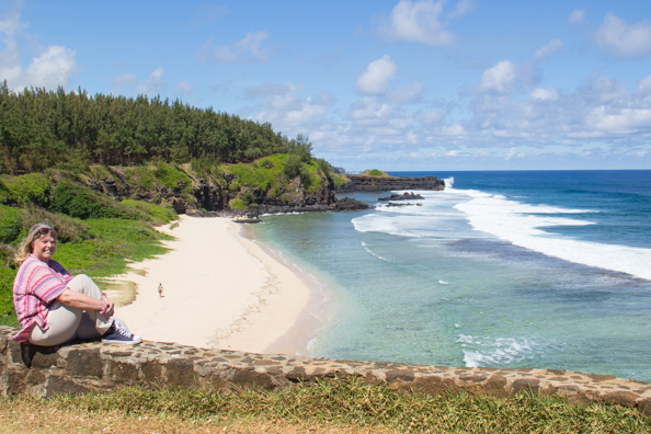Enjoying a quiet moment onthe cliffs of Gris-Gris of Souillac on the island of Mauritius