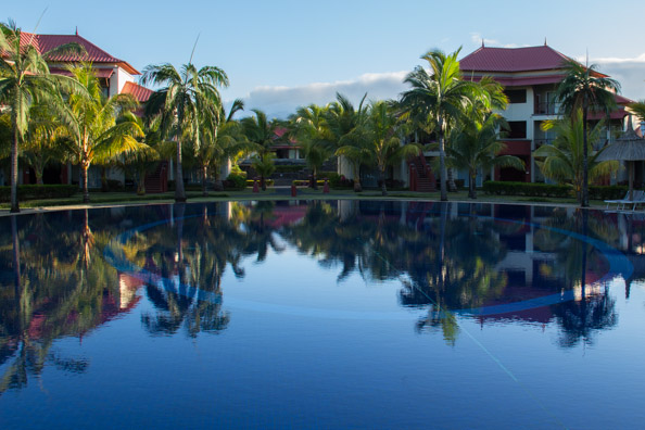 Blocks of rooms at the Tamassa hotel, Bel Ombre on Mauritius