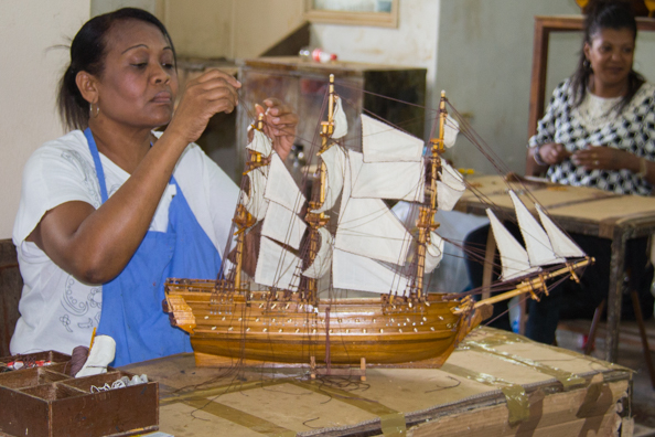 Model ship workshop in Curepipe on Mauritius