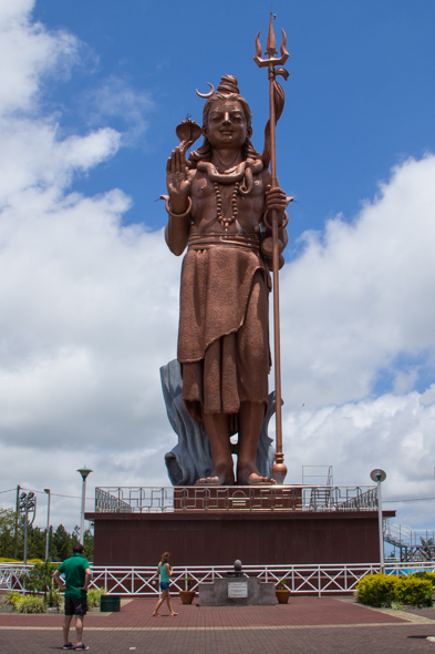 Giant statue of Shiva near the Grand Bassin also known as or the Sacred Lake on Mauritius
