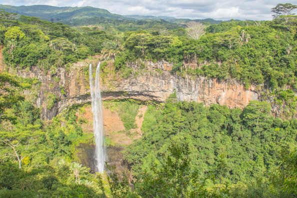 Mare aux Joncs waterfall iin the Black River Gorges National Park on Mauritius