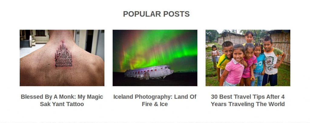 look at a top travel websites most popular posts