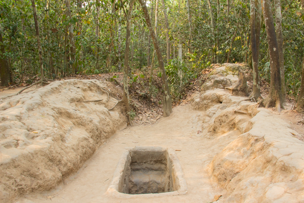 One of many entrances to the Cu Chi Tunnels near Ho Chi Minh City in Vietnam