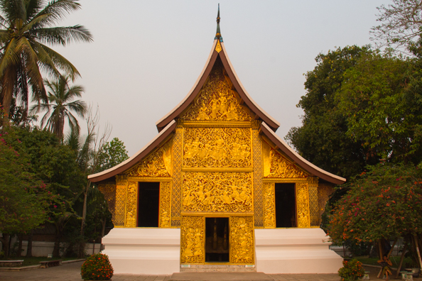 Gold-fronted Vat Xienthong temple in Luang Prabang