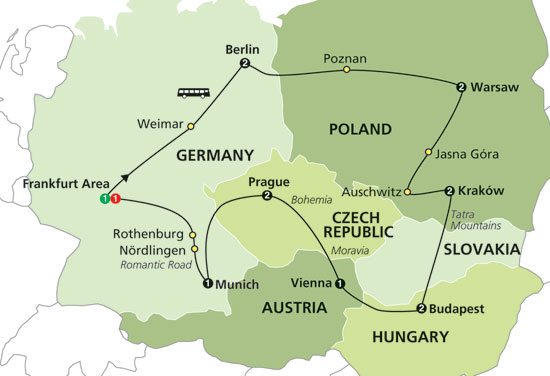 Map Of Germany Krakow.Krakow Doing It In Style On A Shoestring